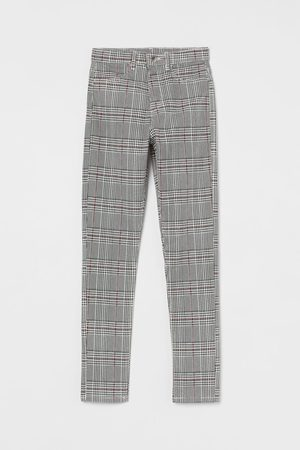 H & M Skinny - Broek van keper - Skinny Fit