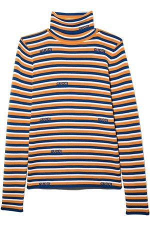 Gucci Kids Striped long sleeve jumper