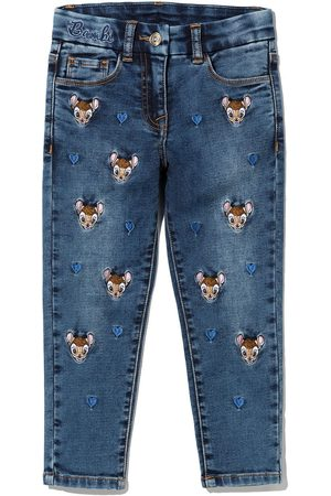 MONNALISA Bambi embroidered straight jeans