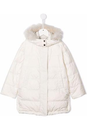 Brunello Cucinelli Kids Hooded padded down coat