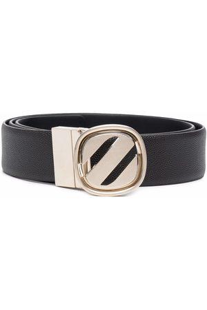 Z Zegna Logo-plaque leather belt