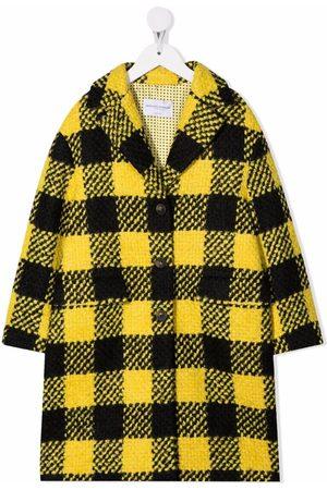 ERMANNO SCERVINO JUNIOR Check-patterned wool-blend coat