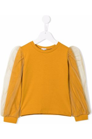 Piccola Ludo Tulle sleeve detail blouse