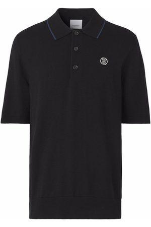 Burberry Monogram motif wool-silk-cashmere polo shirt