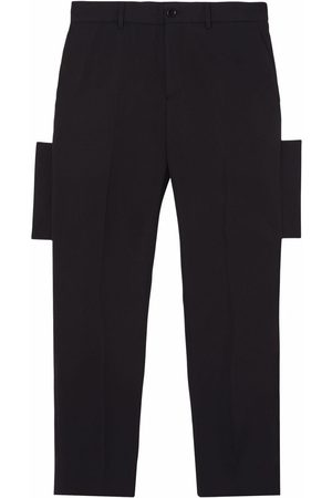 Burberry Panelled-detail tailored trousers