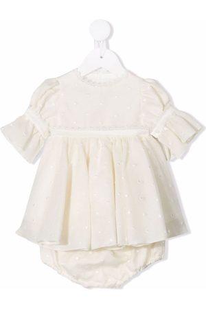 LA STUPENDERIA Polka-dot embroidered dress