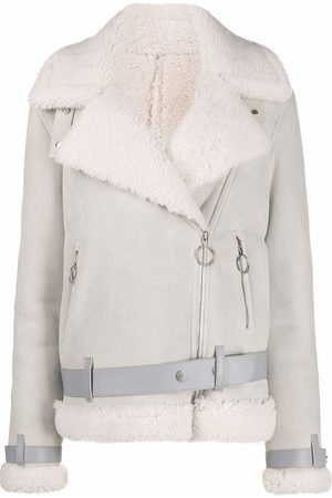 OFF-WHITE Wide-lapels shearling jacket