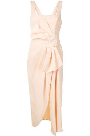Acler Regent midi knot detail dress
