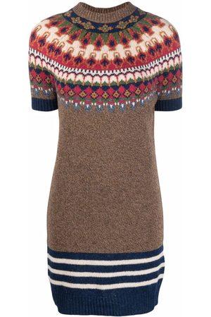 Dsquared2 Intarsia-knit wool jumper dress