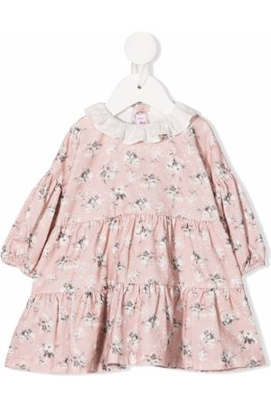 Il gufo Floral-print long-sleeved dress