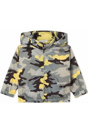 Dolce & Gabbana Donsjassen - Camouflage-print hooded coat