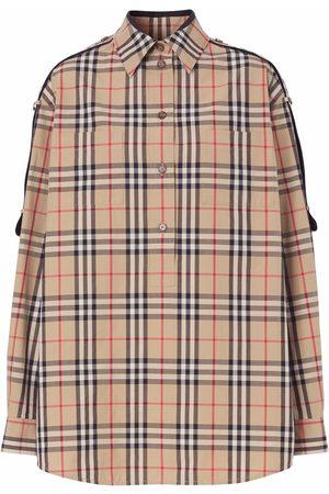 Burberry Dames T-shirts - Vintage Check-print shirt