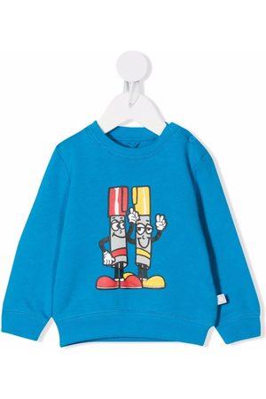 Stella McCartney Coloured-markers print sweatshirt