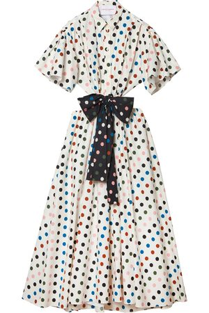 Carolina Herrera Polka dot-print midi shirt dress