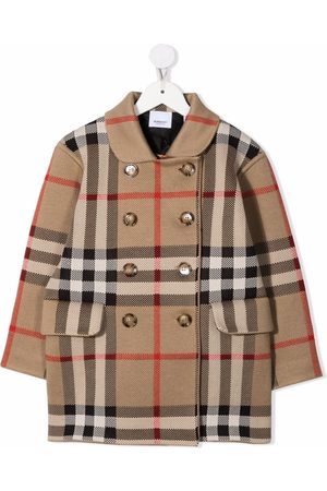 Burberry Kids Double-breasted Vintage Check coat