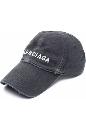 Balenciaga Heren Petten - Logo-embroidered distressed-effect cap