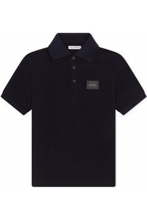 Dolce & Gabbana Cotton logo-patch polo shirt