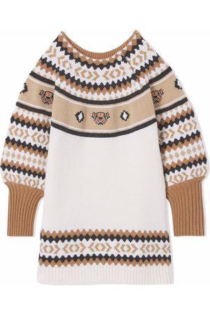 Burberry Meisjes Jurken - Fair isle Thomas Bear dress
