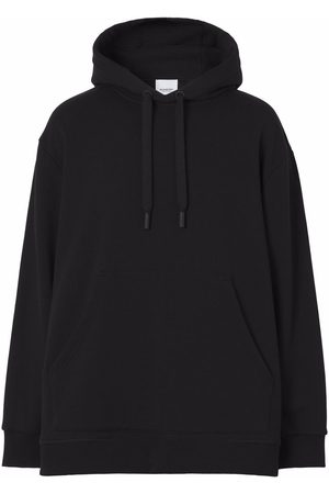 Burberry Check-print panelled hoodie