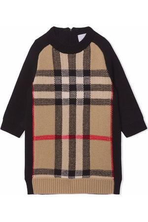 Burberry Check pattern jumper dress