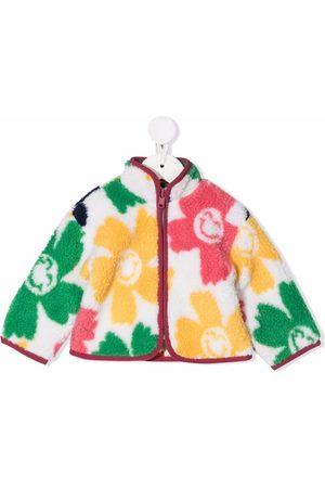 Stella McCartney Floral print faux shearling jacket