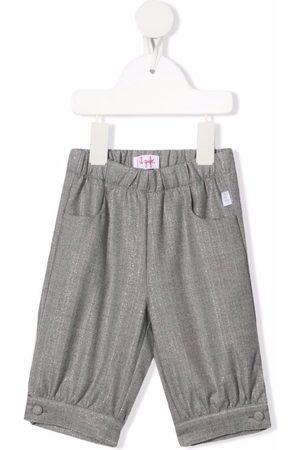 Il gufo Elasticated waistband metallic trousers