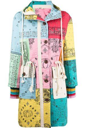 MIRA MIKATI Bandana-print quilted coat
