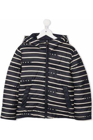 Marni Meisjes Donsjassen - Striped padded jacket
