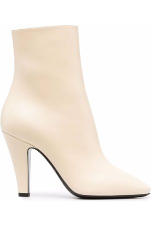 Saint Laurent Almond-toe ankle boots