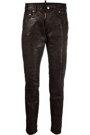 Dsquared2 Dan chocolate-wash skinny jeans