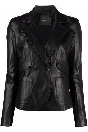 Pinko Double-breasted leather jacket