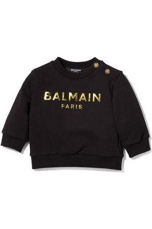 Balmain Metallic logo crew neck sweatshirt