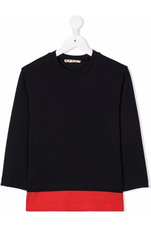 Marni Two-tone long-sleeved T-shirt