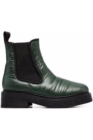 Marni Dames Enkellaarzen - Padded square-toe Chelsea boots