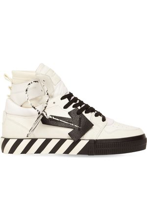 OFF-WHITE Heren Sneakers - Vulcanized High Top Leather Sneakers