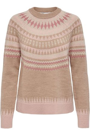 Only Knit Pullover Dames Beige