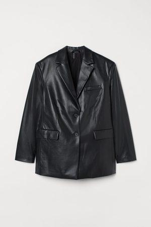 H&M Blazer van imitatieleer