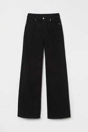 H&M Wijde broek van keper