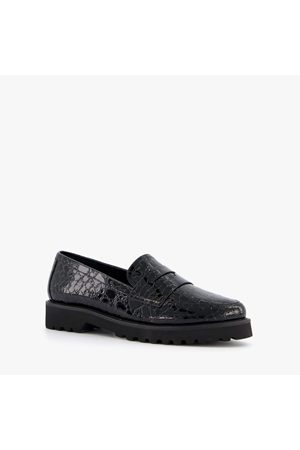 Nova Dames Loafers - Dames loafers met croco print