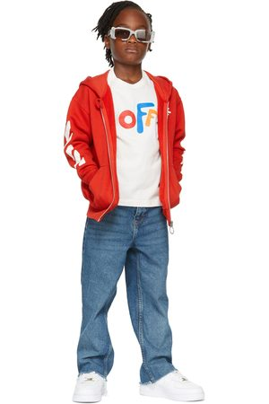 Off-White Kids Red Rounded 'Off' Hoodie