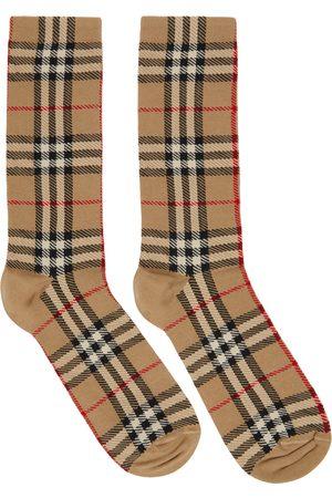 Burberry Intarsia Check High Socks