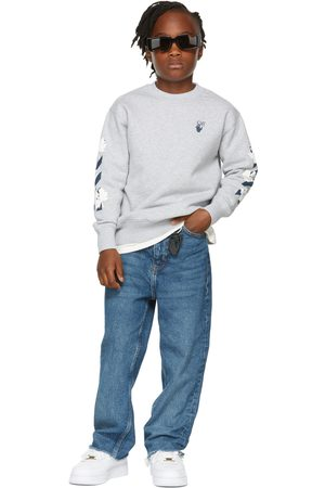 OFF-WHITE Kids Grey Marker Sweatshirt