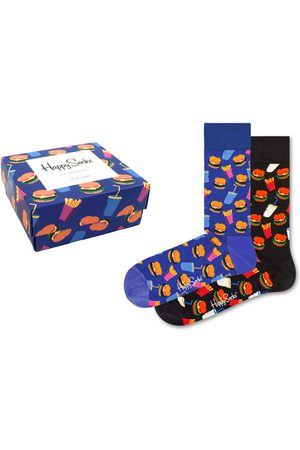 Happy Socks Sokken - Hamburger giftbox 2-pack