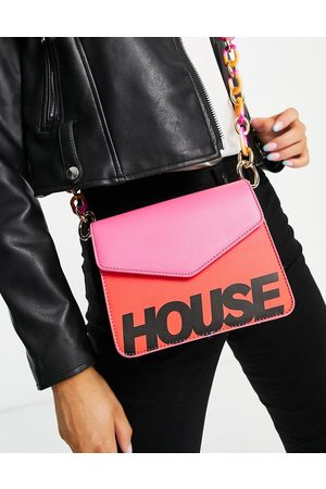 House Of Holland Crossbody chain strap bag in pink