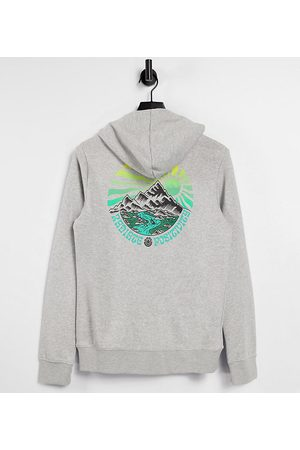 Element Balmore hoodie in grey Exclusive at ASOS