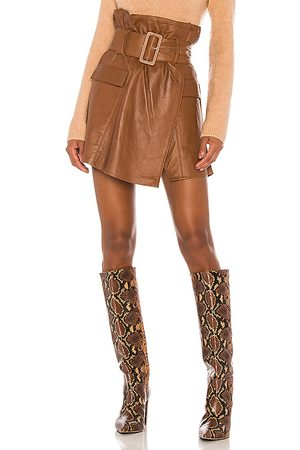 Song of Style Brandy Leather Skirt in