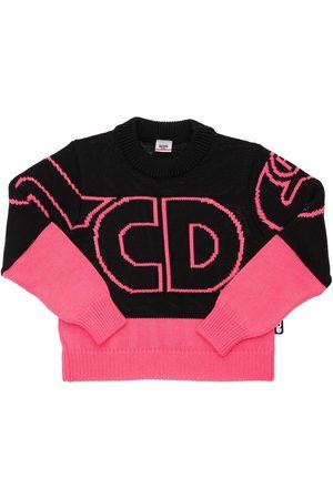 GCDS Meisjes Sweaters - Intarsia Wool & Acrylic Knit Sweater