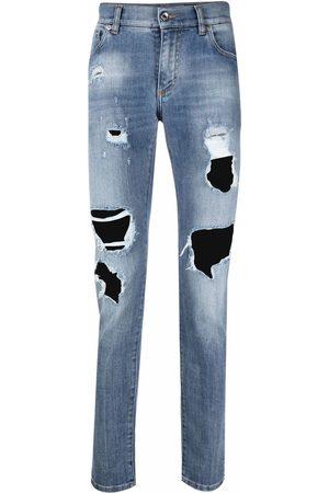 Dolce & Gabbana Heren Skinny - Logo-plaque skinny-fit jeans