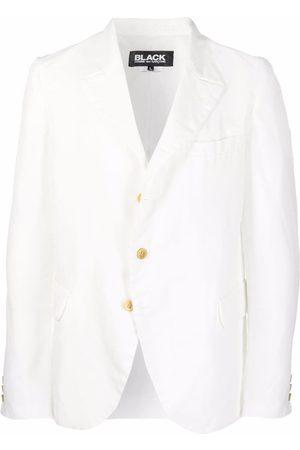 Black Comme Des Garçons Single-breasted buttoned blazer