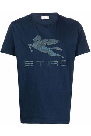 Etro Logo-print cotton T-shirt